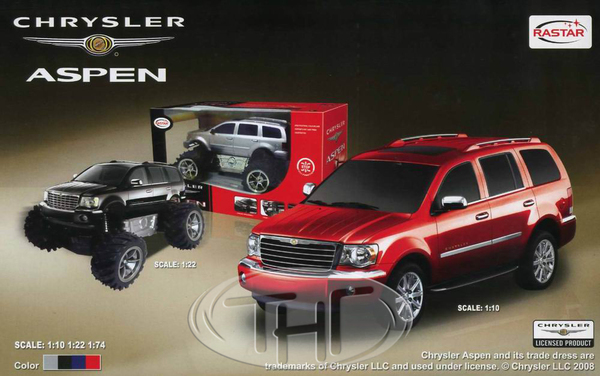 Машина р/у 1:74 Chrysler Aspen, 16х5х10 см